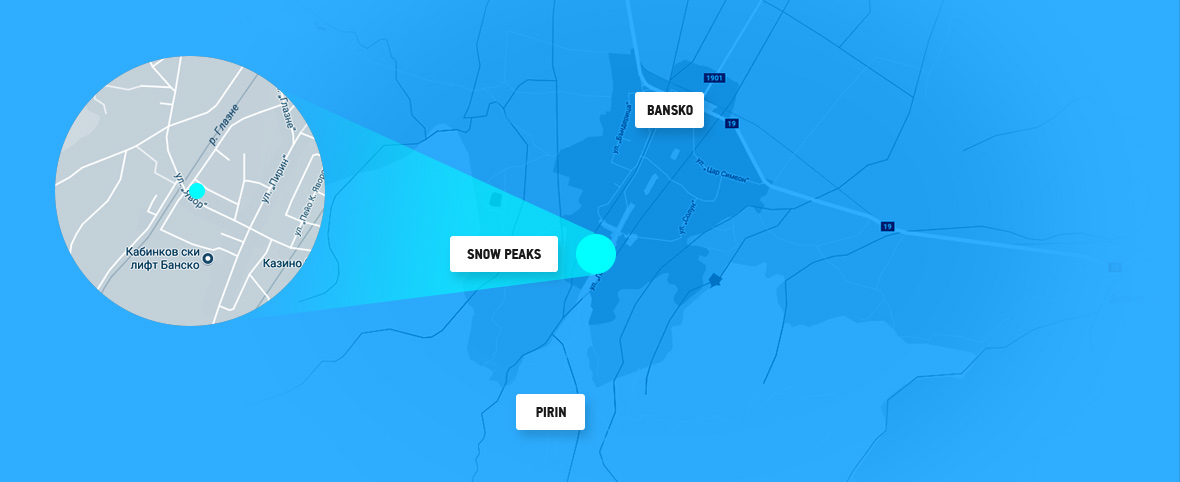 Map of Bansko - Snowpeaks - Pirin mountain image