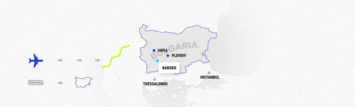Map of bansko image