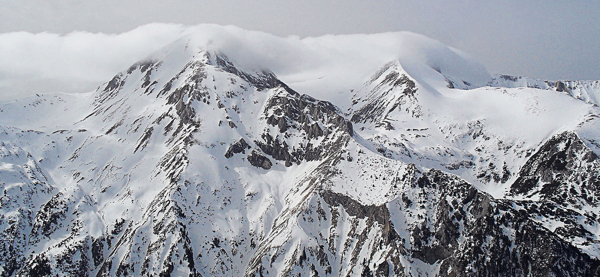 Pirin moutain and its highest peak Vihren image